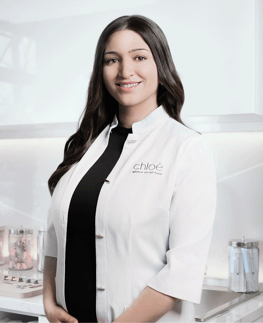 Sonia D'Antico, technicienne esthétique à la Clinique Chloé médico esthétique